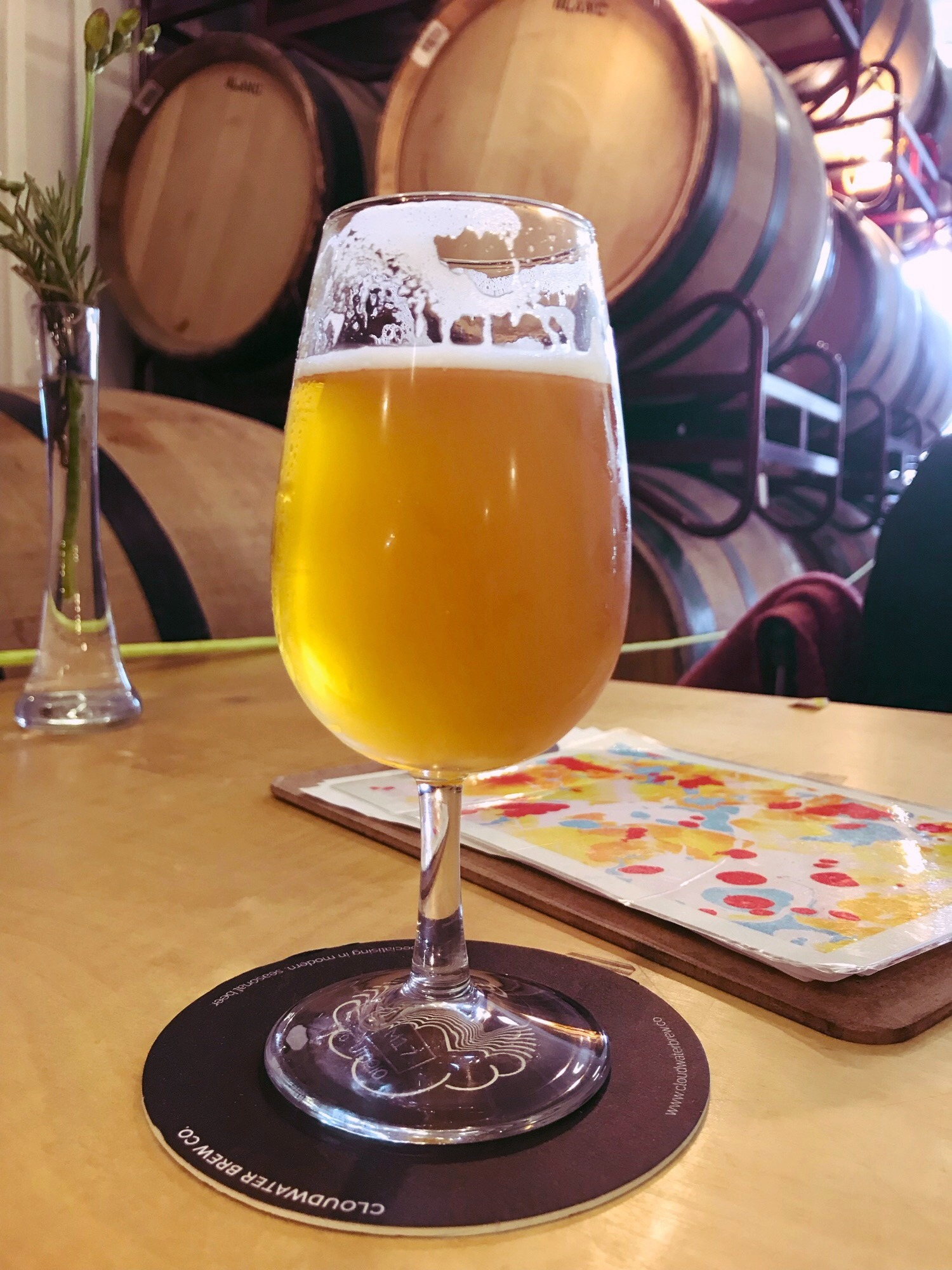 Beer at Cloudwater Barrel Store Tap room