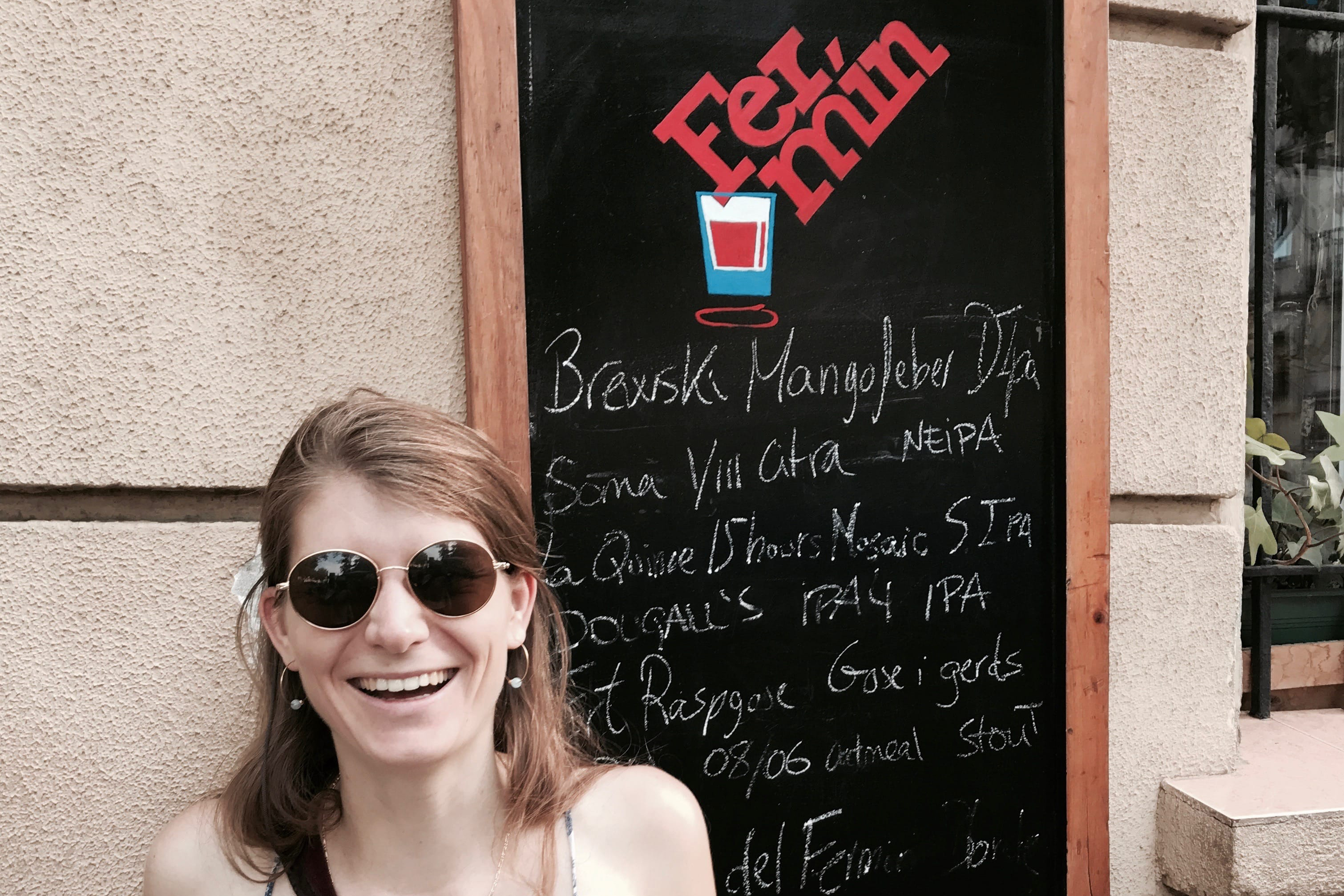 Tess at Bodega Fermin